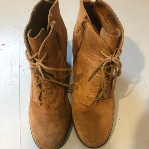 Lucky Brand wedged booties